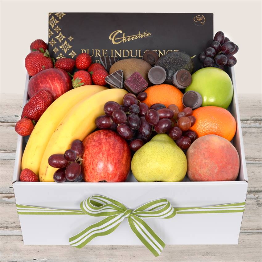 Classic Fruit Box with Dark Chocs